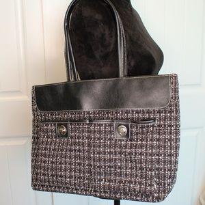 Handbags - Black Large Oversized Shoulder Bag w/Pockets